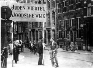 סימון הרובע היהודי באמסטרדם בתחילת הכיבוש הגרמני