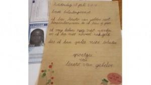 המכתב ששלחה לרטו ואן חלדר למס הכנסה