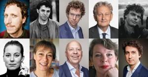 """אתגר קרת וסופרים נוספים (מתוך אתר """"75 להולנד החופשית"""")"""