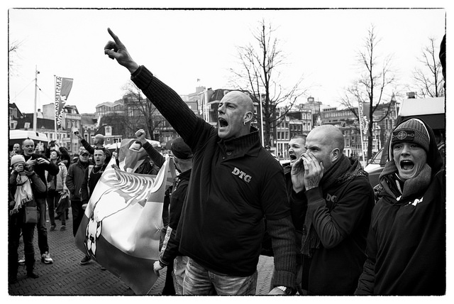 Pegida demo Amsterdam 6.2.16 Guido van Nispen