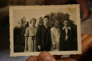 unt Solvejg Bloch, my grandfather Leo Bloch, my grandmother Gretl Bloch-Liesert, my father Rhodo Bloch. Picture was taken in the first year of the war.
