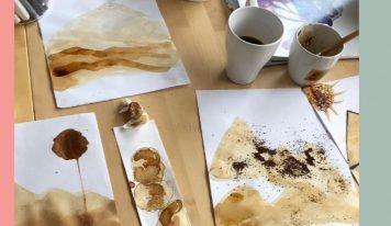 ציור עם קפה – סדנא מקוונת